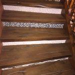 Escalier bois et carrelage